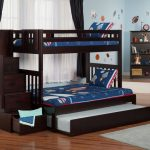 Twin Over Full Bunk Bed Black Wood