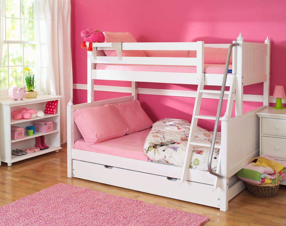 Twin Over Full Bunk Beds Pink