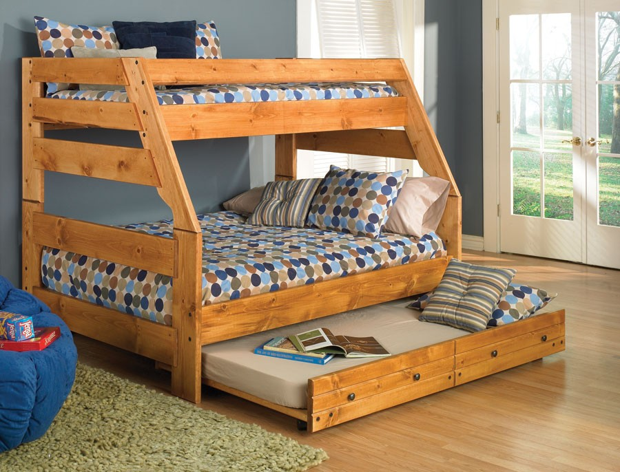 Image of: Twin Over Full Bunk Beds With Mattresses Included
