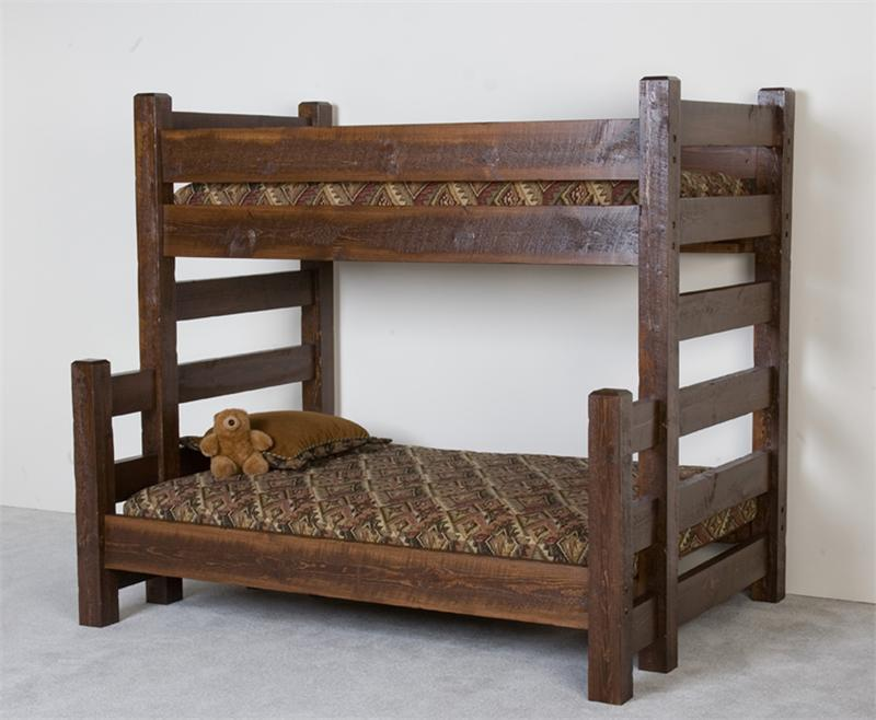 Image of: Twin Over Full Bunk Beds Wood