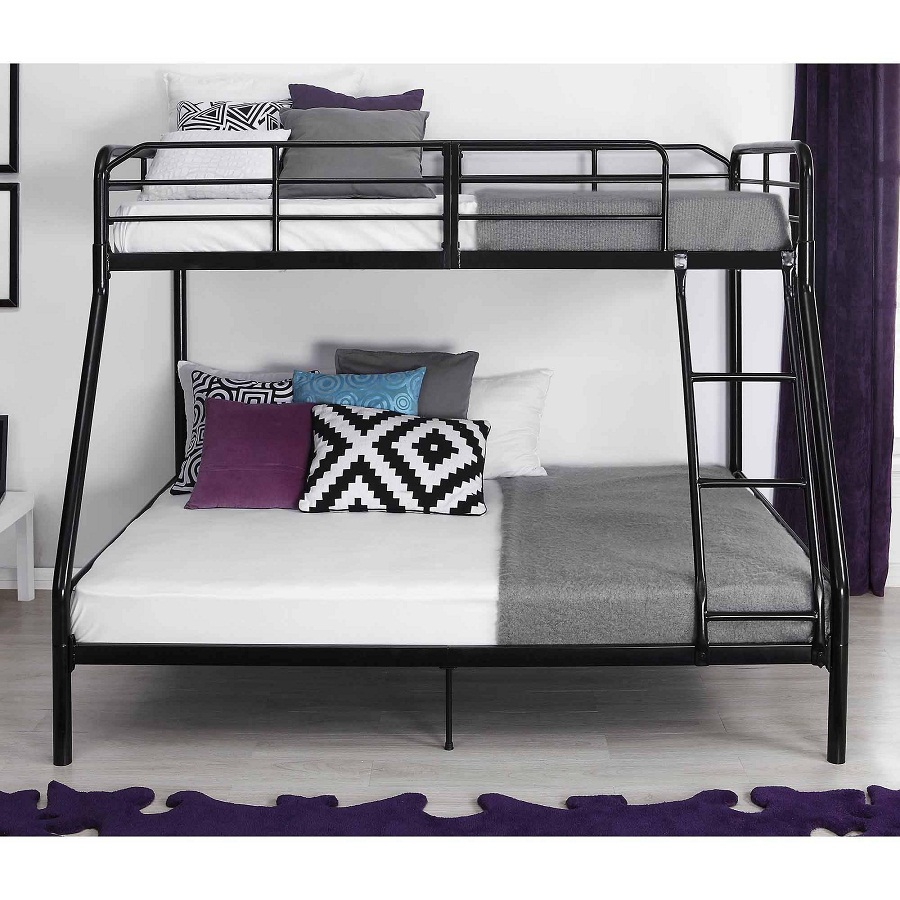 Image of: Twin Over Full Loft Bed Black