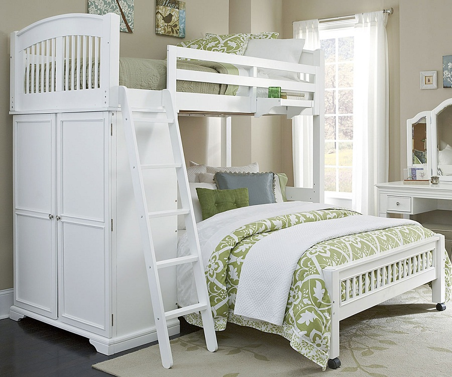 Image of: Twin Over Full Loft Bed L Shapes