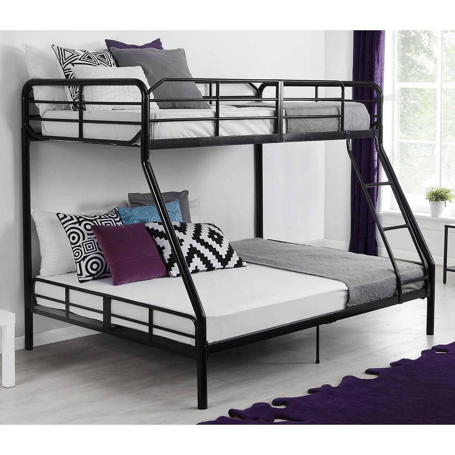 Image of: Twin Over Full Loft Bed Metal