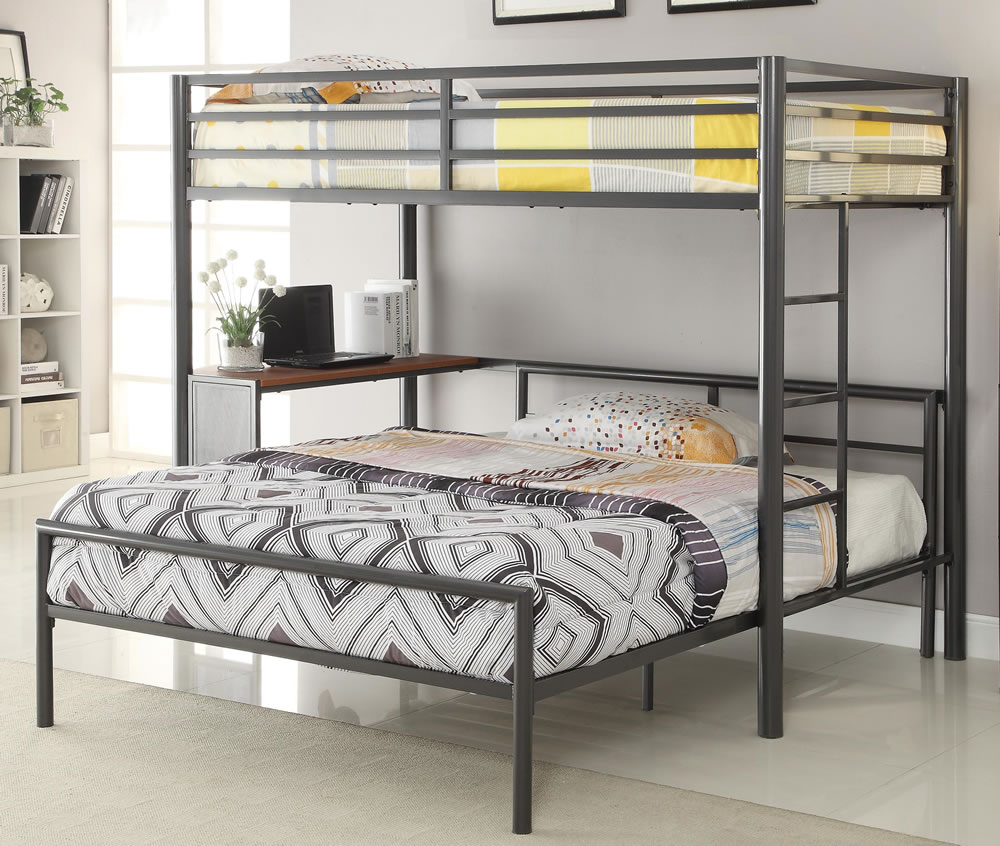 Image of: Twin Over Full Loft Bed and Desk