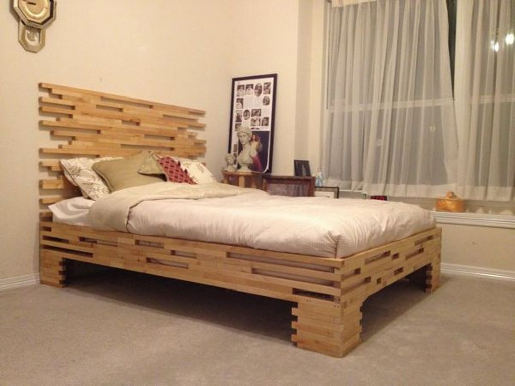 Image of: Twin Size Bed Frames with Headboard
