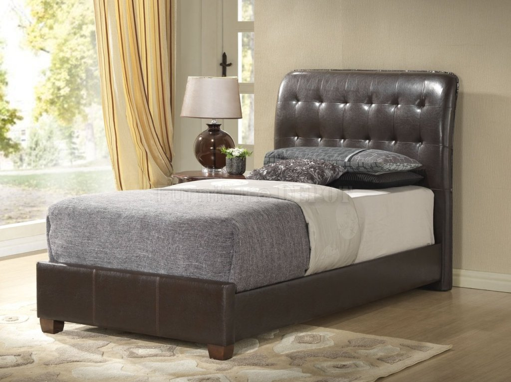 Image of: Twin Upholstered Bed Frame