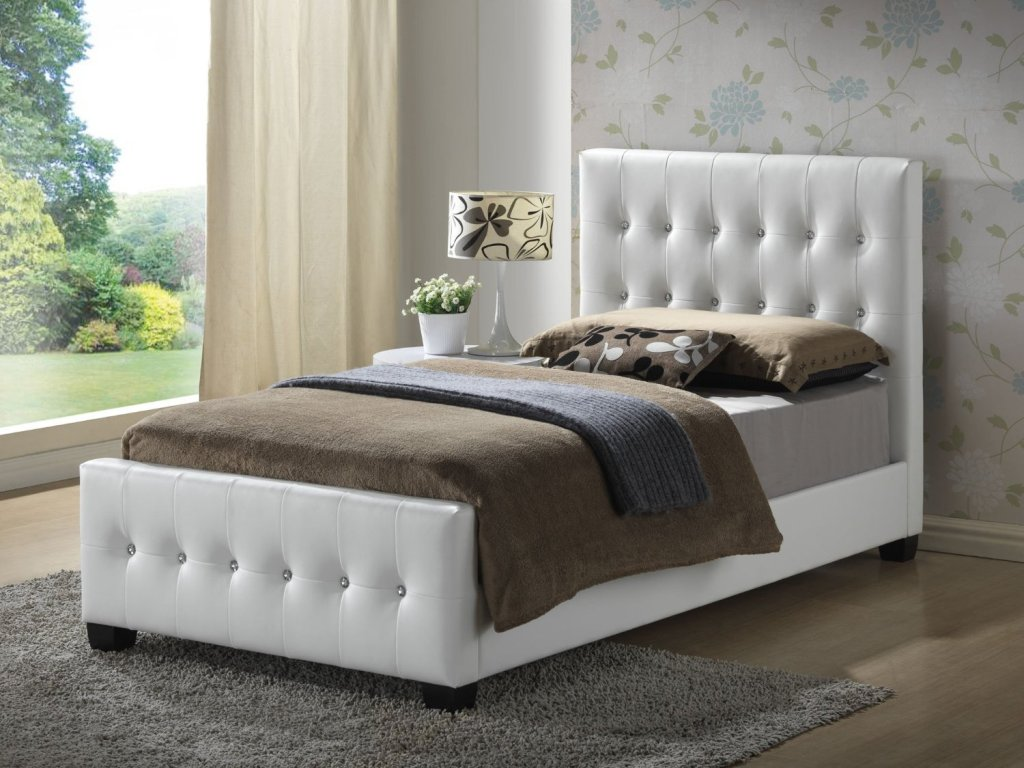 Image of: Twin Upholstered Bed Headboard and Frames