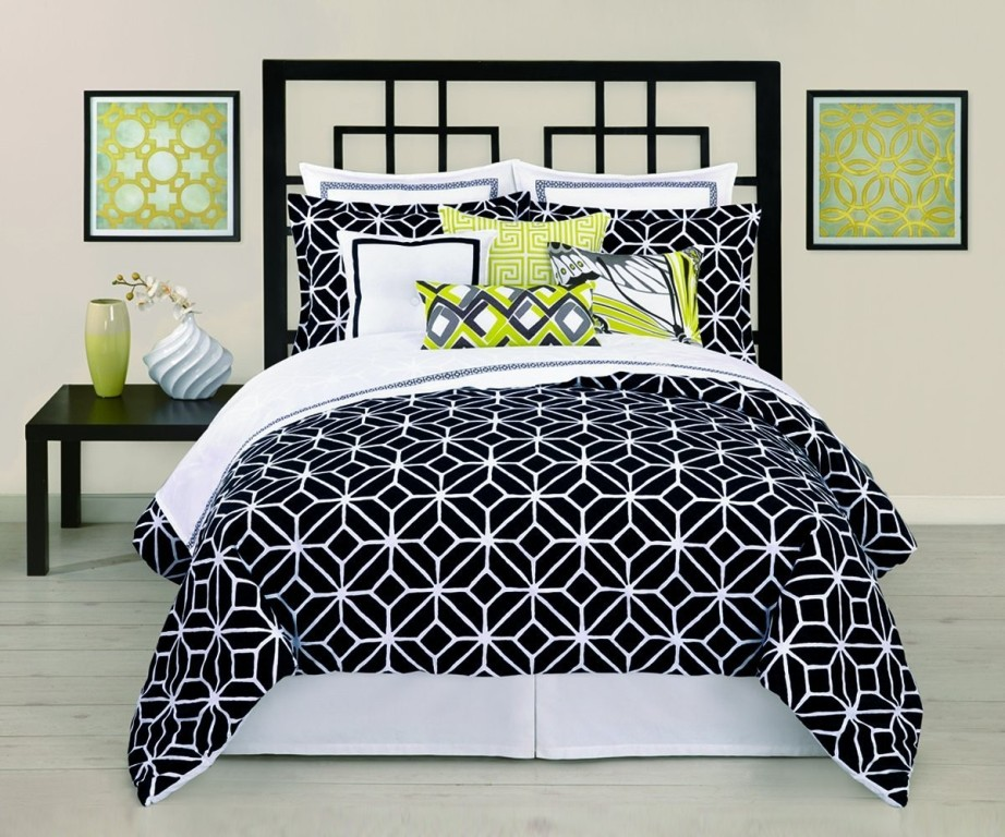 Twin XL Bedding Black And White Pictures