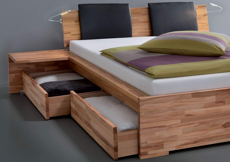 Underbed Shoe Storage Wood