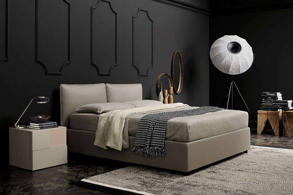 Image of: Upholstered Twin Bed Frame
