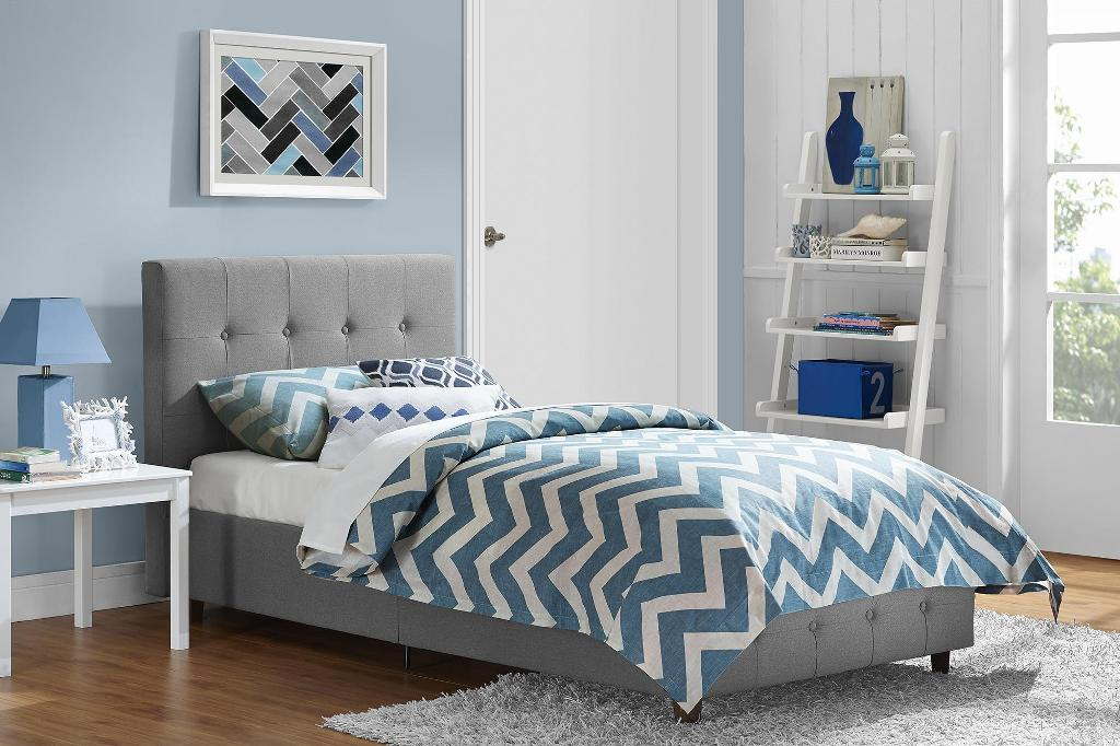 Image of: Upholstered Twin Bed with Storage