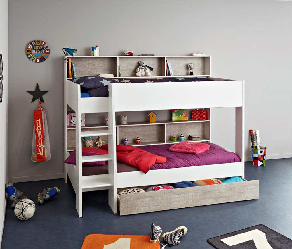 Image of: White Childrens Loft Beds
