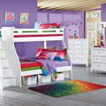 White Twin Over Full Loft Bed