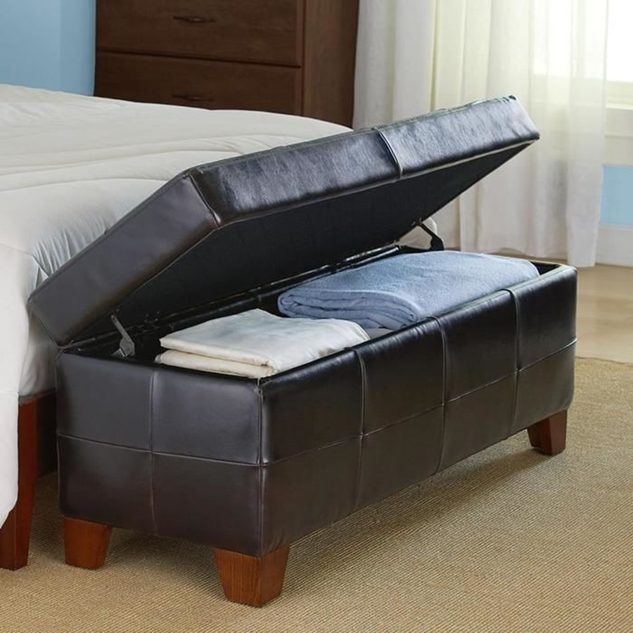 Image of: Awesome End Of Bed Storage Bench