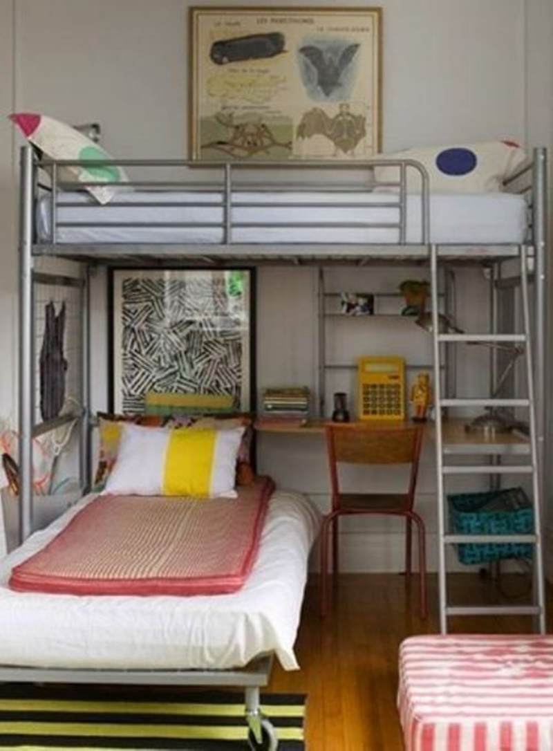 Image of: Awesome Ikea Svarta Loft Bed