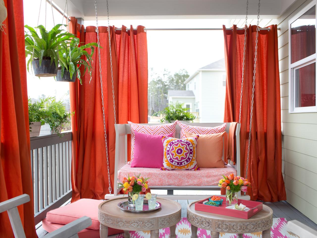 Beautiful Outdoor Patio Curtains Picture