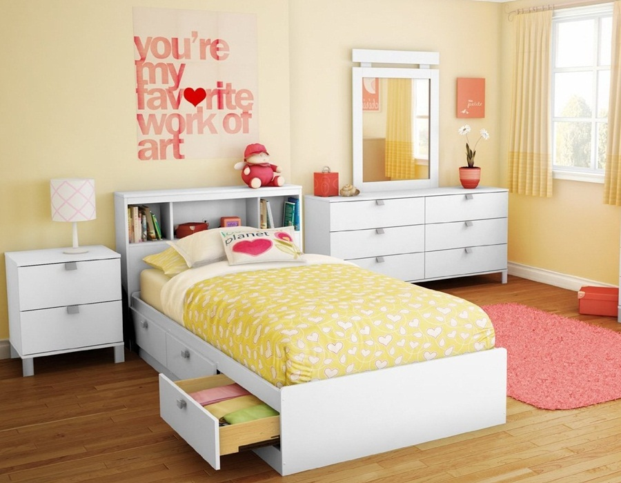 Beauty Twin Bed With Drawers Underneath