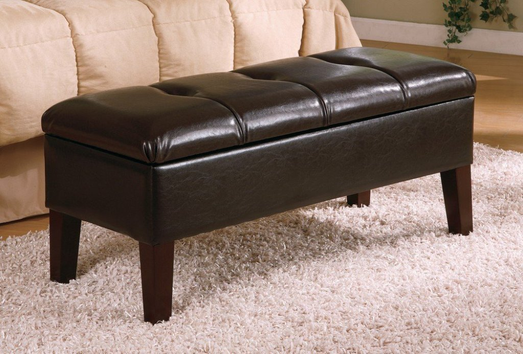 Bedroom Storage Bench Seat Black