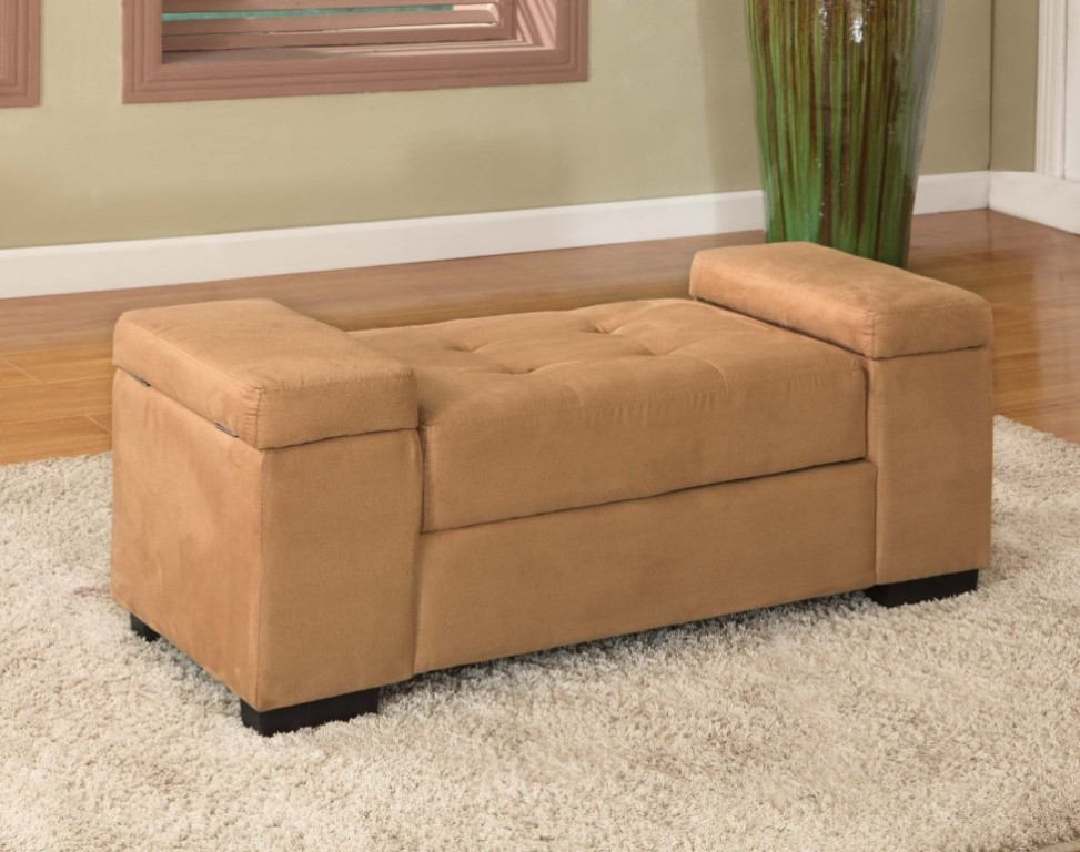 Image of: Bedroom Storage Bench Seat with Arms
