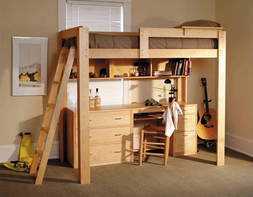 Image of: Best Lofted Full Bed