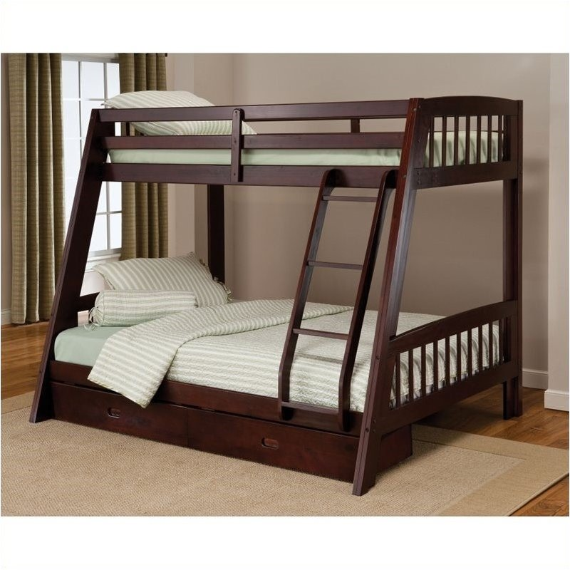 Image of: Best Twin Full Bunk Beds With Stairs