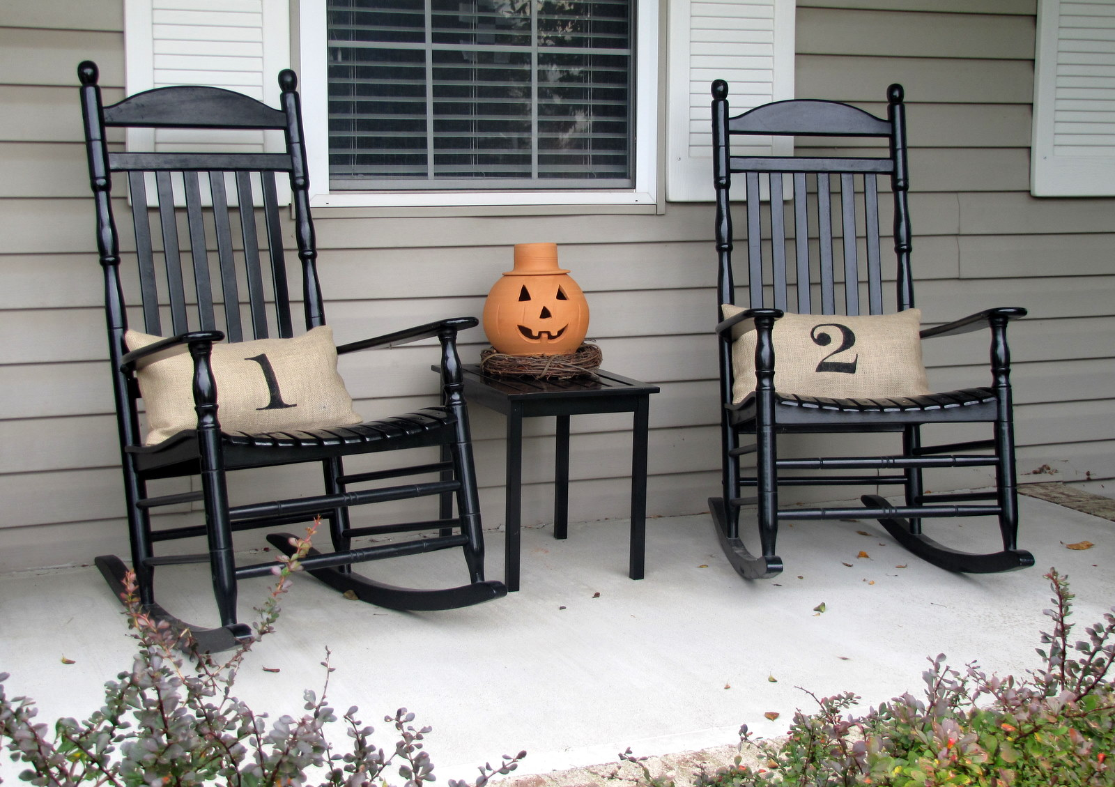 Image of: Black Outdoor Rocking Chair