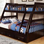 Black Twin Over Twin Bunk Beds With Stairs
