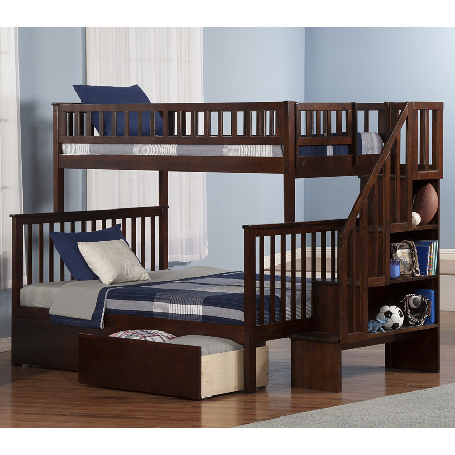 Image of: Boys Bunk Bed Stairs