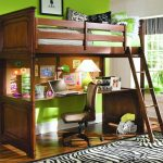 Brown Lofted Full Bed