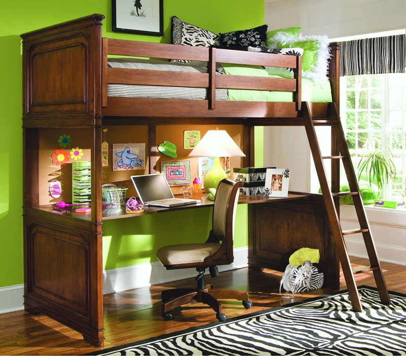 Image of: Brown Lofted Full Bed