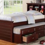 Brown Twin Bed With Drawers Underneath