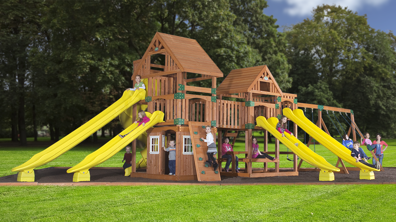 Image of: Build Outdoor Playsets