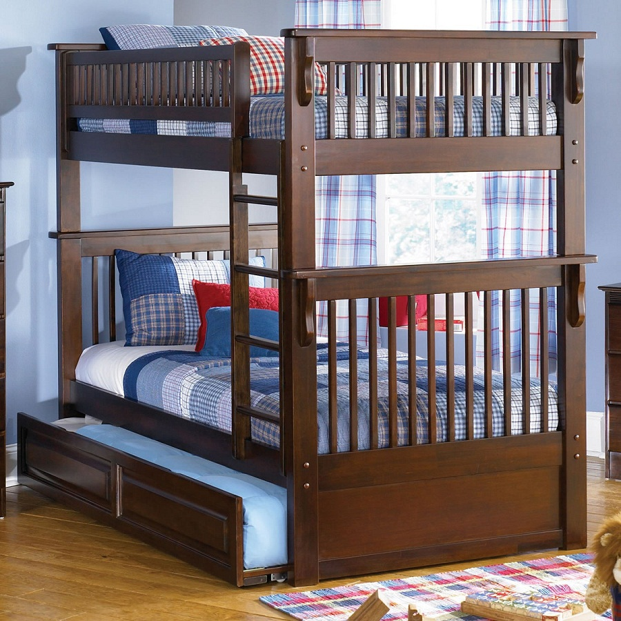 Image of: Bunk Beds Twin over Twin Kids