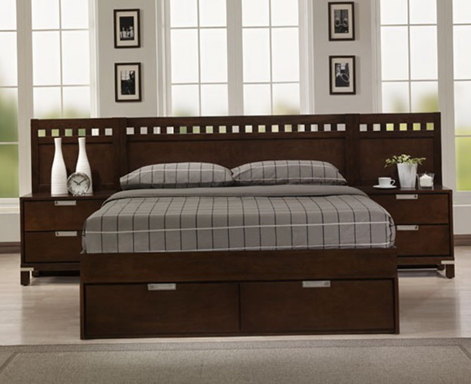 Image of: California King Bed Frame and Headboard