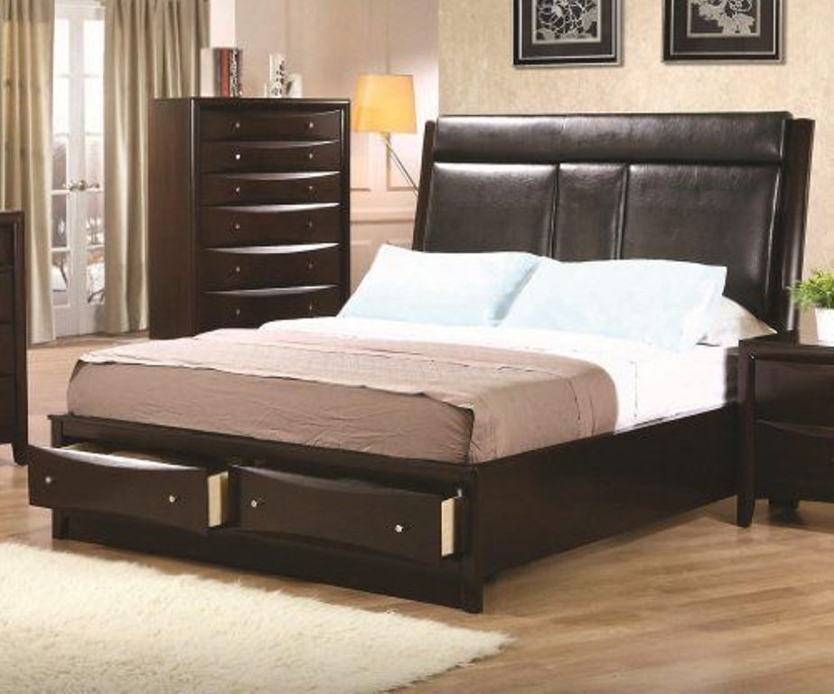 Image of: California King Bed Frames with Storage