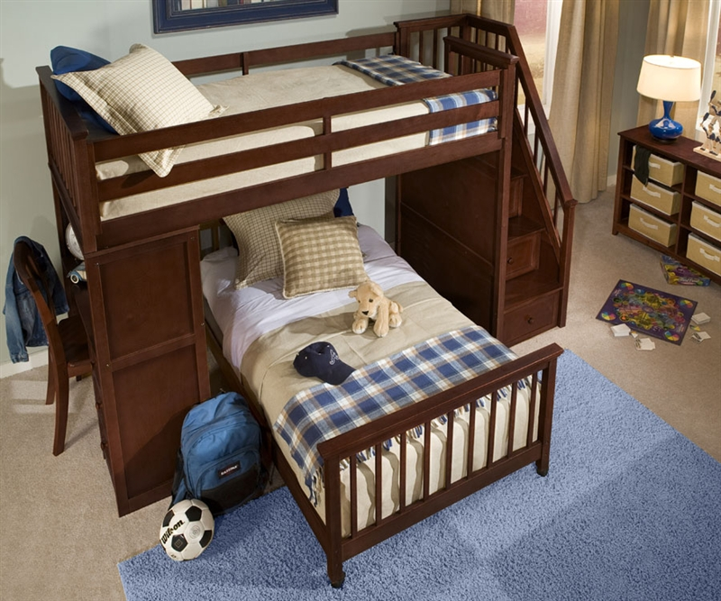 Image of: Children Bunk Bed Stairs