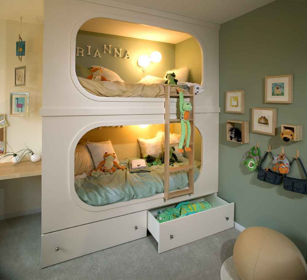 Image of: Childrens Bunk Beds Designs