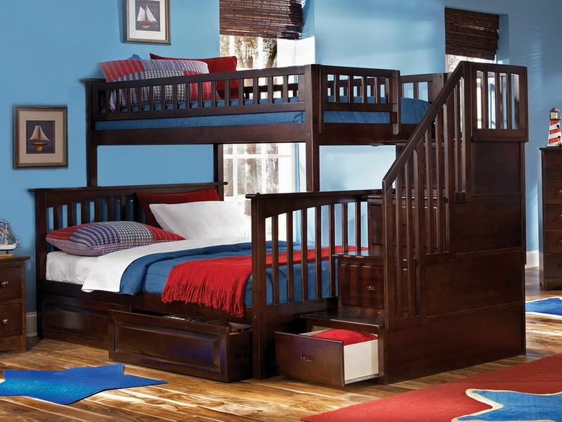 Image of: Childrens Bunk Beds Staircase