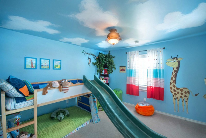 Image of: Childrens Bunk Beds with Slide