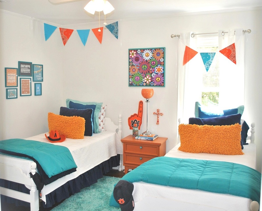 Image of: Childrens Twin Beds with Furniture