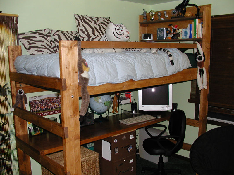 Image of: College Loft Bed Full Furniture