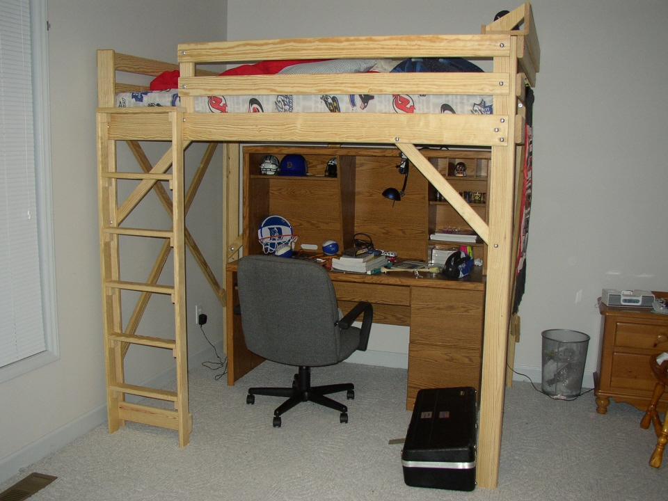 Image of: College Loft Bed Plans