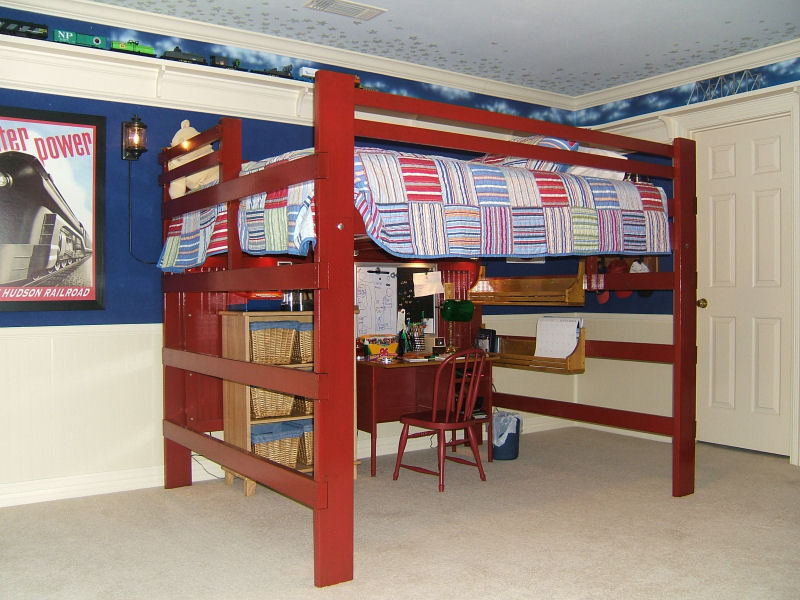 Image of: College Loft Bed Unfinished