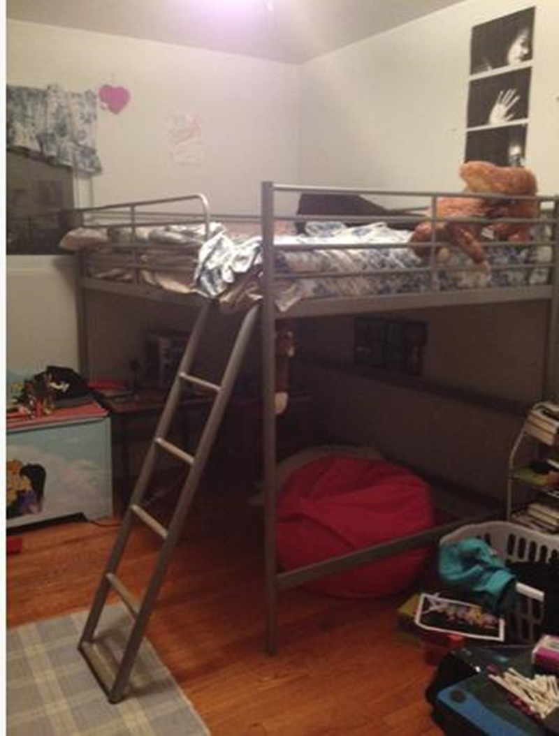 Image of: Decorative Ikea Svarta Loft Bed