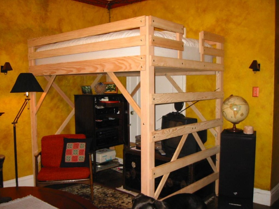 Image of: Design Lofted Full Bed
