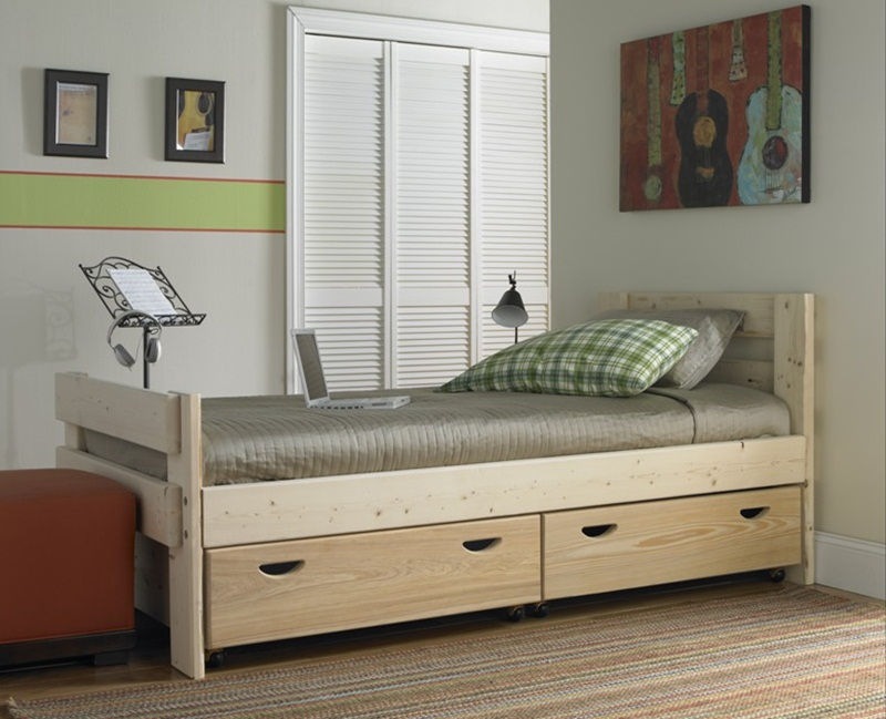 Image of: Design Twin Bed With Drawers Underneath