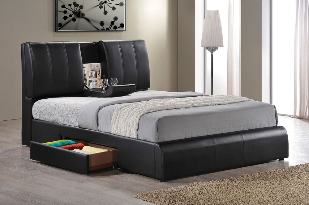 Image of: Eastern King Bed Frame With Storage