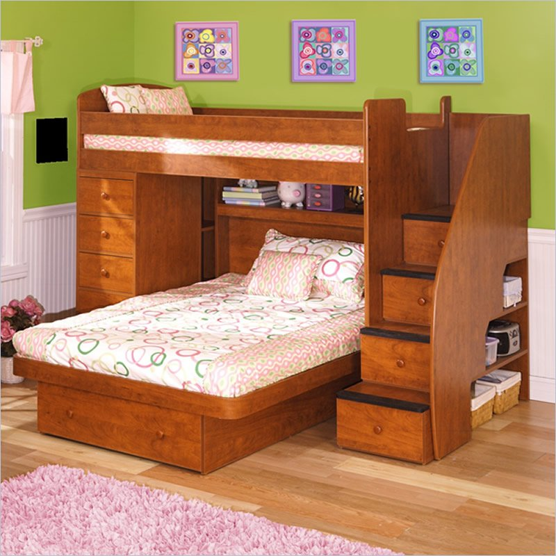 Image of: Full Size Bunk Bed L Shaped