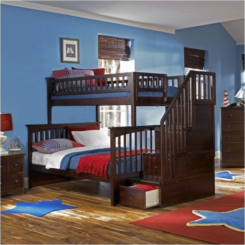 Image of: Full Size Bunk Bed Storage