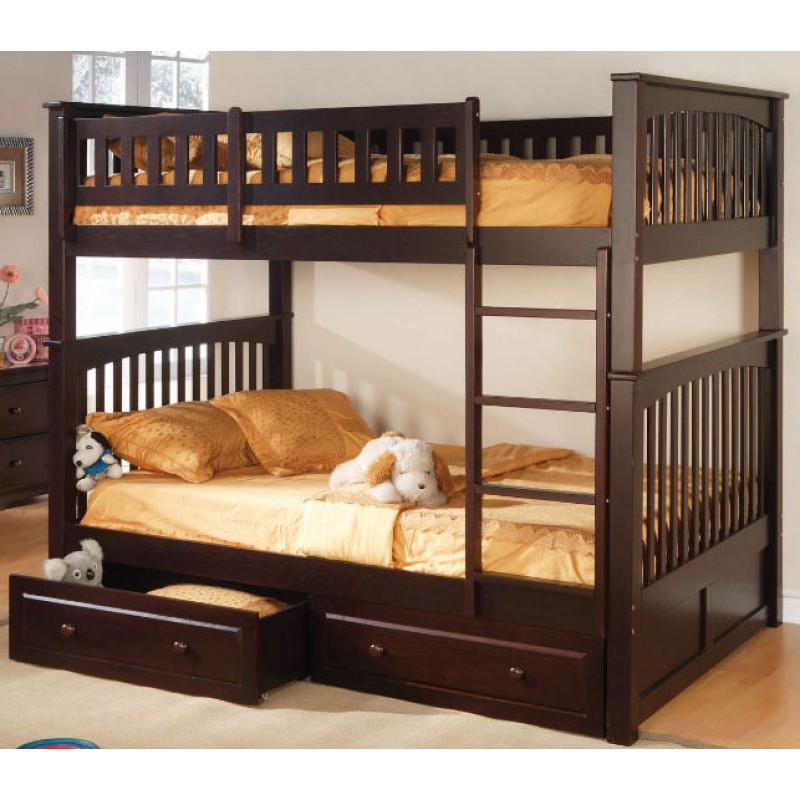 Image of: Full Size Bunk Bed Twin
